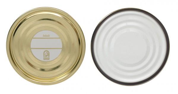 Falzdeckel für Blechdosen mit Schreibfläche ø99 mm