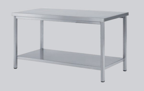 Arbeitstisch aus CNS mit Ablageboden