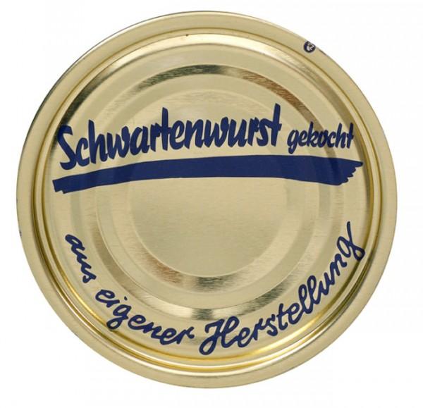 """Falzdeckel """"Schwartenwurst gekocht"""" ø 99 mm"""