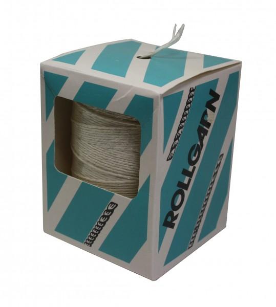 Rollgarn, 200 g 3,5/2fach, weiß gebleicht, Spule im Spenderkarton
