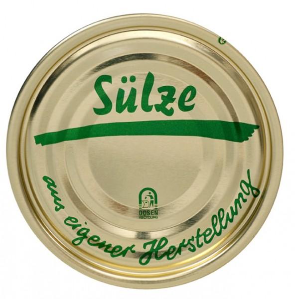 """Falzdeckel mit Druck """"Sülze"""" ø 99 mm"""