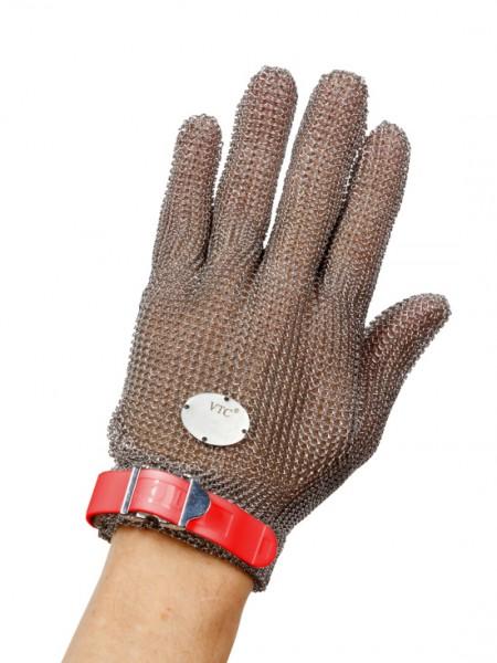 Stechschutzhandschuh Größe M - rot - links