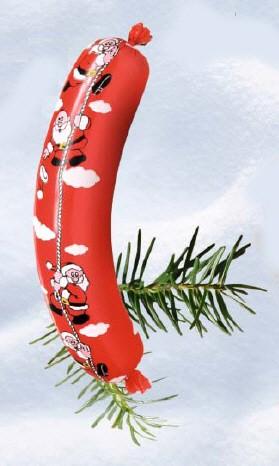 """Kranzdarm rot - """"Weihnachten"""" - Kaliber 45/25"""
