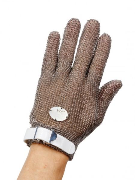 Stechschutzhandschuh Größe S - weiß - links