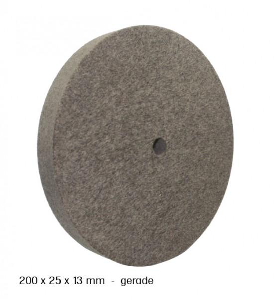Filz- und Polierscheibe 200 x 25 x 13 mm - gerade