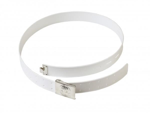 Koppel/Gürtel mit Kastenschloß - weiß