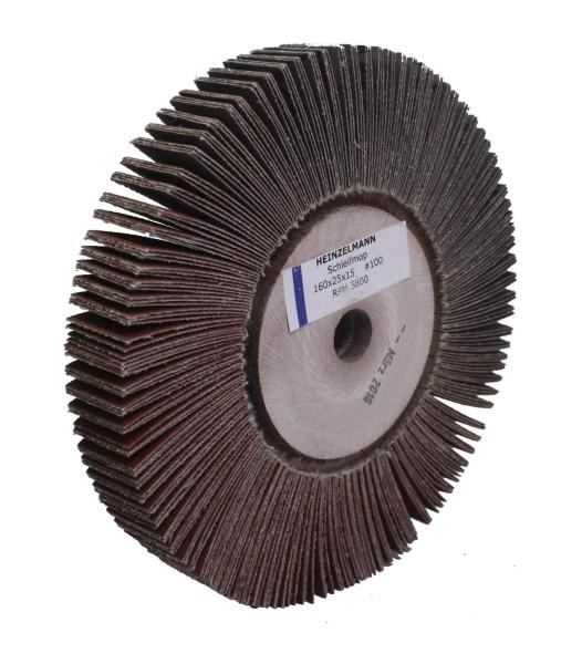 Lamellenschleifscheibe 160 x 25 x 15 mm Korn 100
