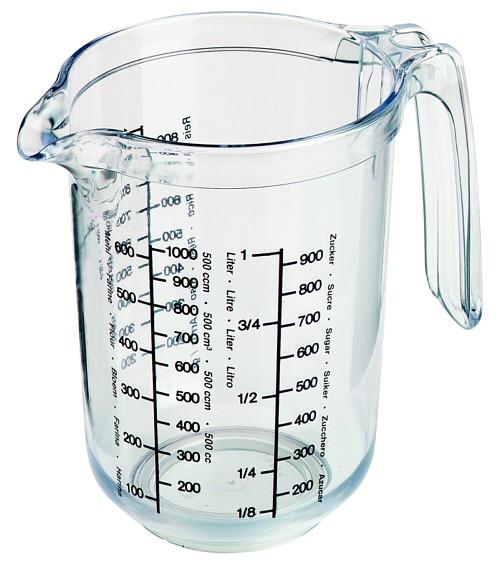 Messkanne - Messbecher - 1 Liter mit Meßskala