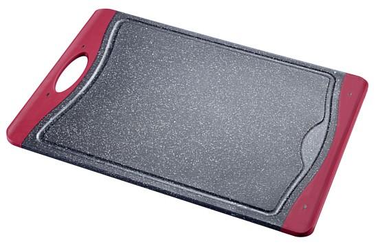 Schneidebrett rutschfest - 430x310x10mm granit