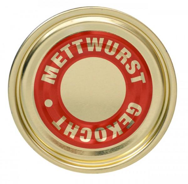 "Falzdeckel ""Mettwurst gekocht"" ø 99 mm"