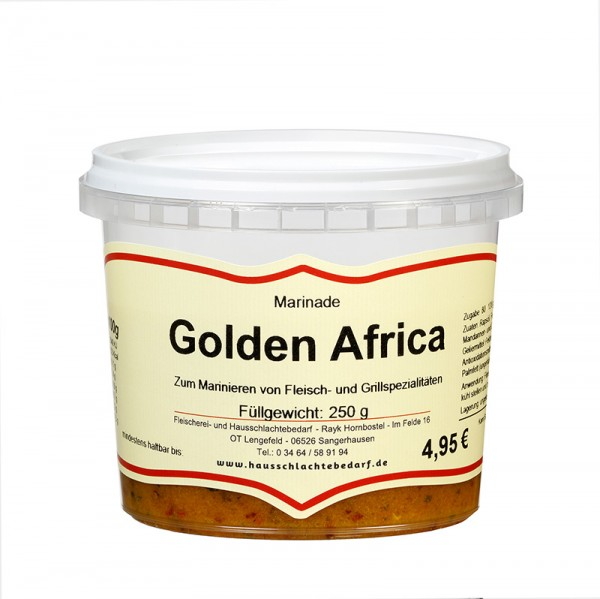 250 g Marinade Golden Africa