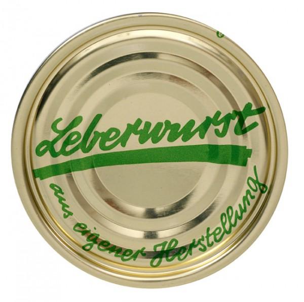 """Falzdeckel mit Druck """"Leberwurst"""" ø 99 mm"""