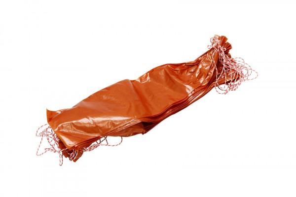 25 Stück Nalo Faser Därme für Rohwurst Kaliber 60/40 - braun