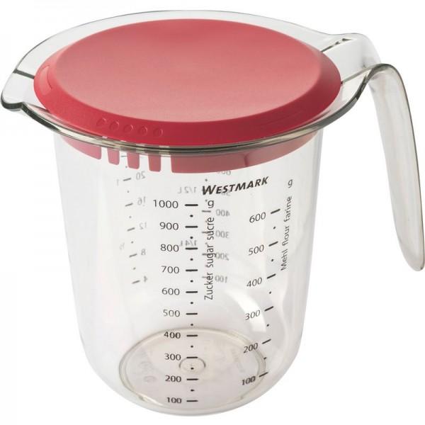 Messkanne von Westmark - 1 Liter mit Deckel
