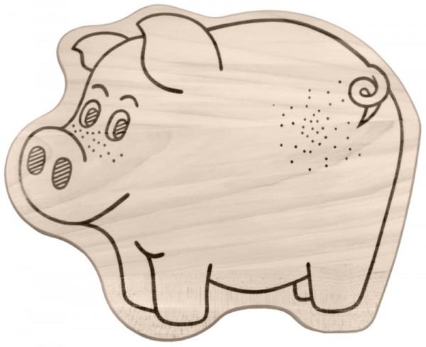 Tiermotivbrett Schwein - SONDERPOSTEN