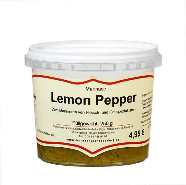 250 g Marinade Lemon - Pepper