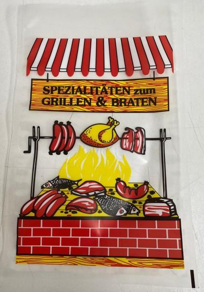 """100 Stück Siegelrandbeutel """"Spezialitäten zum Grillen & Braten"""" 200 x 320 mm"""