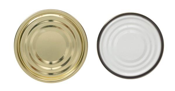 Falzdeckel für Blechdosen ohne Schreibfläche ø99 mm
