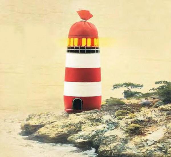 """Textildarm """"Leuchtturm"""" mit Boden"""