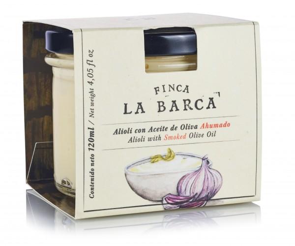 """Alioli mit geräuchertem Olivenöl """"Finca La Barca"""" - der neue Dip für Fisch und Fleisch"""