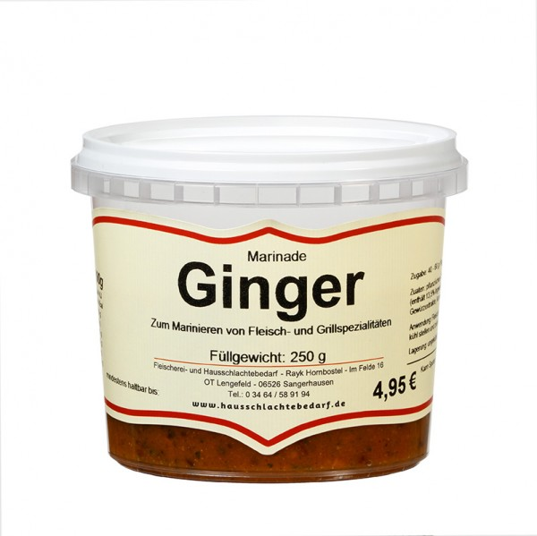 250 g Marinade Ginger