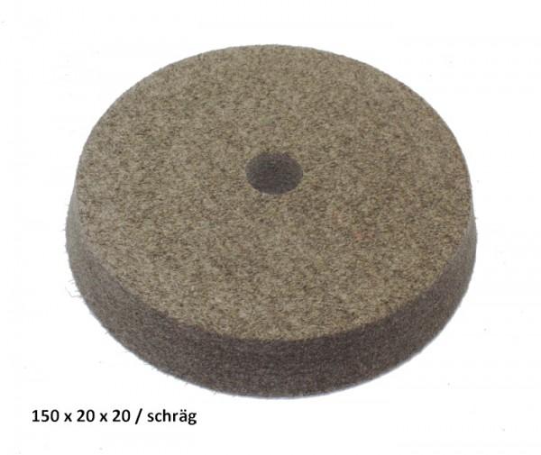 Filz- und Polierscheibe 150 x 20 x 20 mm - schräg