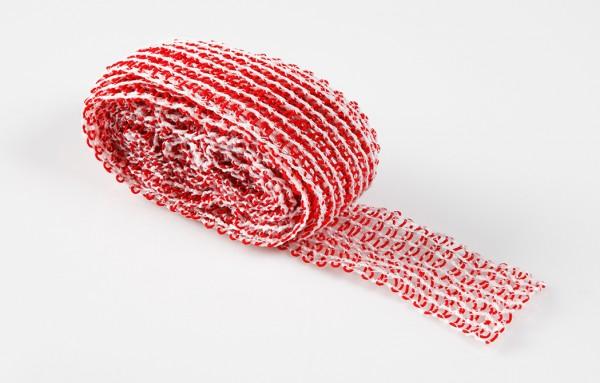 4 Meter Schinkennetz - rot/weiß