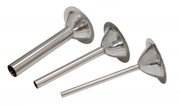 Füllrohr - Tüllen - 3èr - Set - Inox - Größe 32/B98