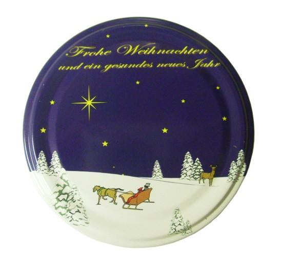 Deckel für Sturzgläser TWO 82 - blau - Weihnachten