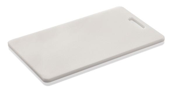 Schneidebrett mit Griffloch aus Kunststoff - 40 x 25 x 1,2 cm in verschiedenen Farben