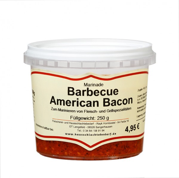 250 g Marinade Barbecue American Bacon