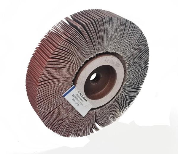Lamellenschleifscheibe 160 x 30 x 15 mm Korn 100