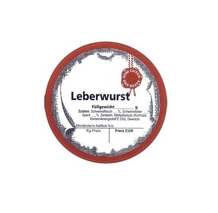 """Etikett """"Leberwurst"""""""
