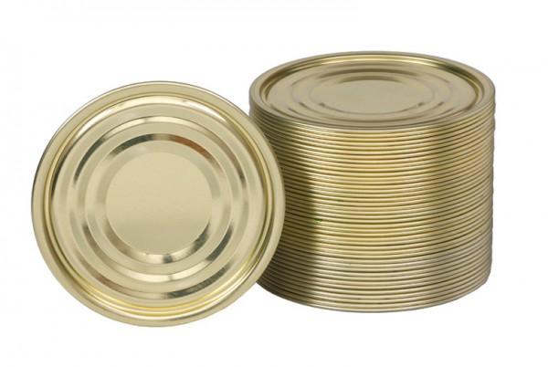 100 Falzdeckel für Blechdosen ohne Schreibfläche ø99 mm