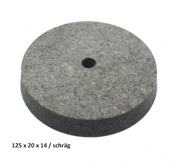 Filz- und Polierscheibe 125 x 20 x 14 mm - schräg